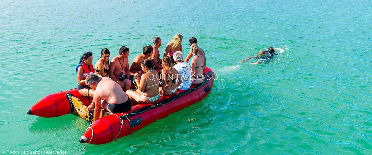 Turistas em Recife de Parque Fora