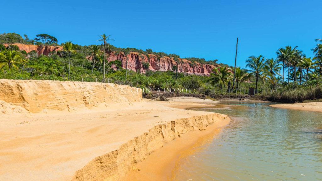 Falésia praia pitinga