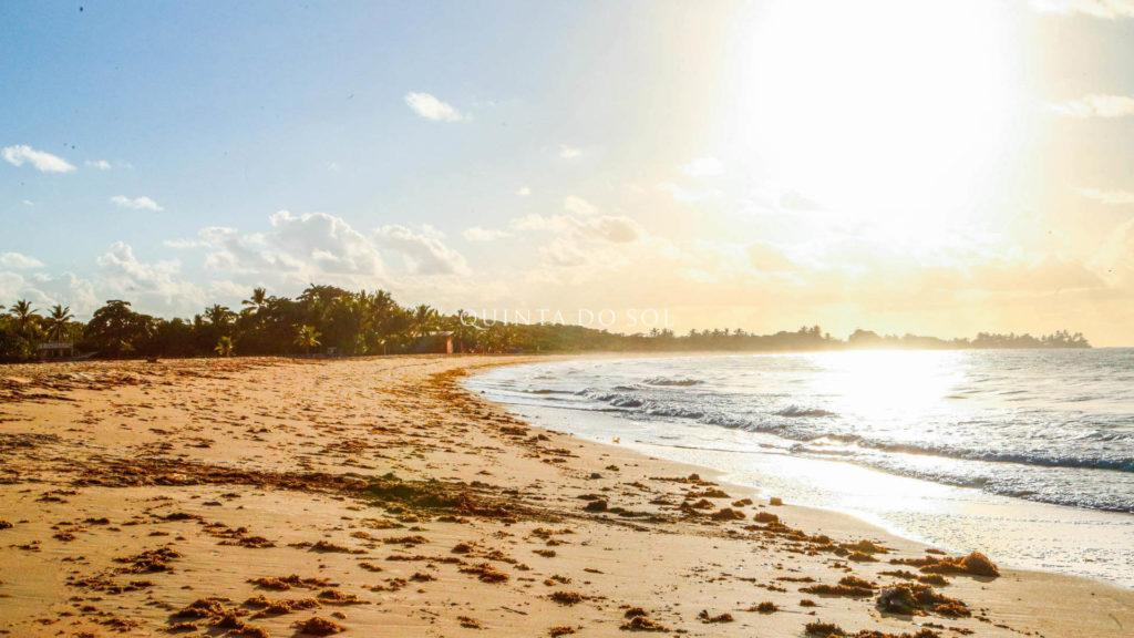 Bela praia de Curuipe em Porto Seguro
