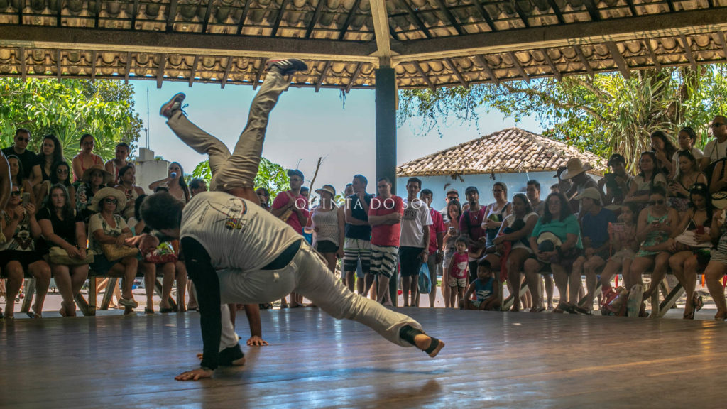 Capoeira no centro histórico de Porto Seguro