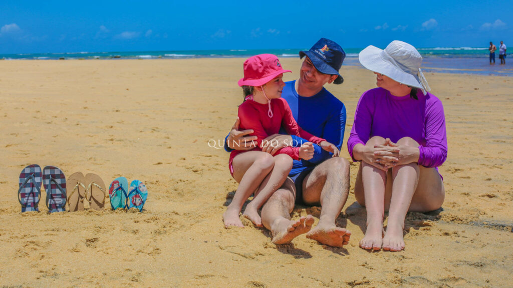 Família na Praia do Espelho