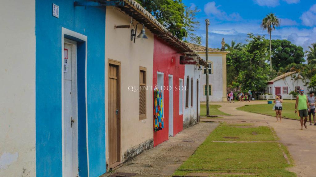 Tranquilidade nas ruas de Porto Seguro