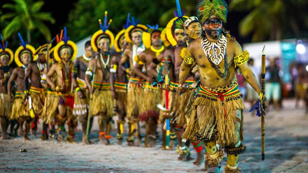 Tribo indígena na Reserva da Jaqueira