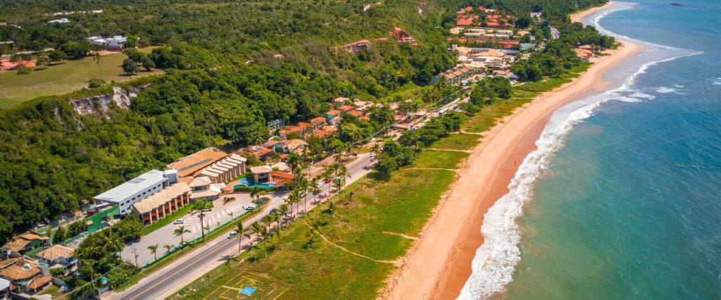 Vista aérea do Quinta do Sol Praia Hotel