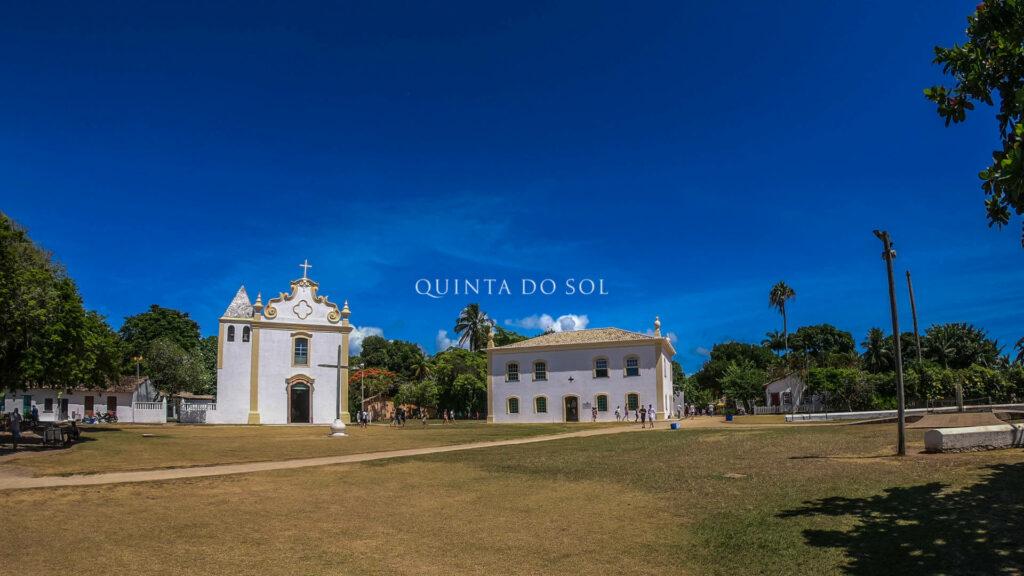 Centro Histórico de Porto Seguro pela tarde.