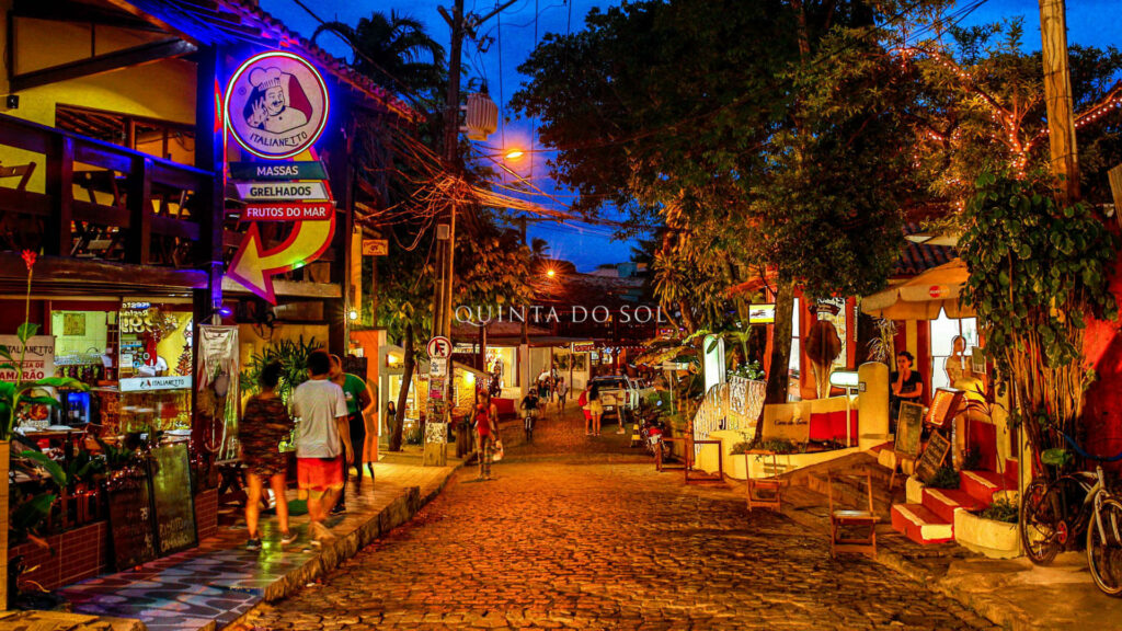Rua do Mucugê no fim de tarde