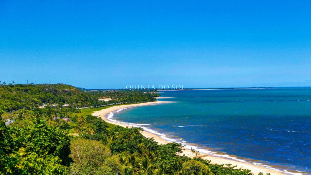Praia de Curuipe paisagem aérea